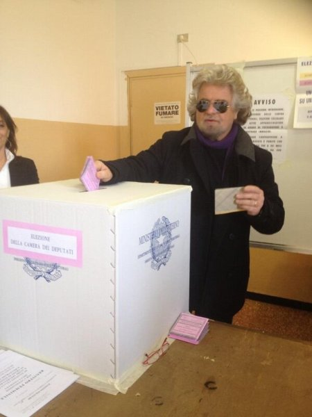 Ital election Grillo votes buffon
