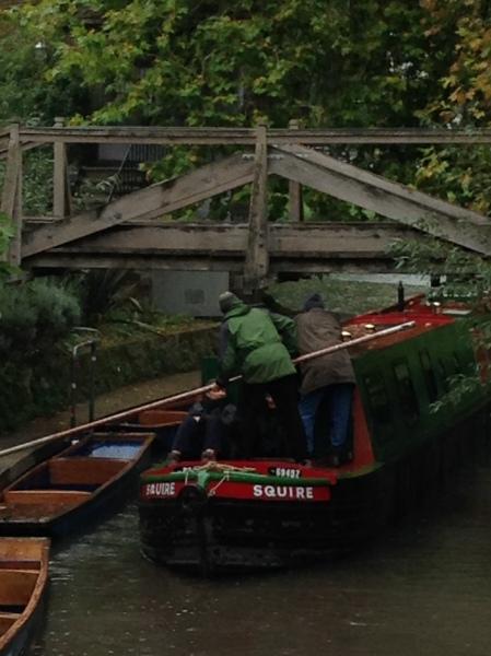 narrowboat upriver 3