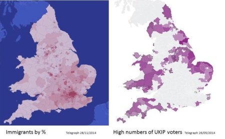UKIP support vs net immigration